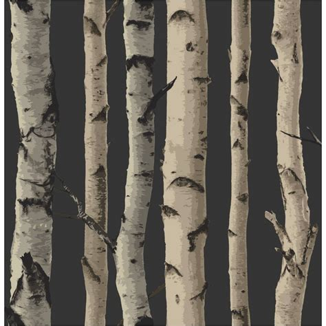 Buy fine decor birch tree wallpaper gold brown