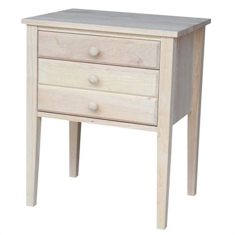 unfinished accent table features