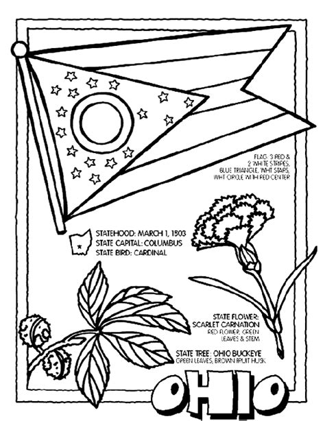 Ohio Coloring Pages ohio coloring page crayola