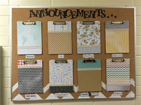 Office Bulletin Board Ideas Lds Church Bulletin Board Church Announcements Neat And