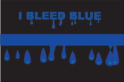 Wallpaper Sticker Fresh Blue Line thin blue line family bleed blue reflective decal