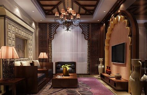 superb Interior Decoration Ideas For Living Room #4: 3D-house-decoration-of-Southeast-Asian-style-living-room.jpg