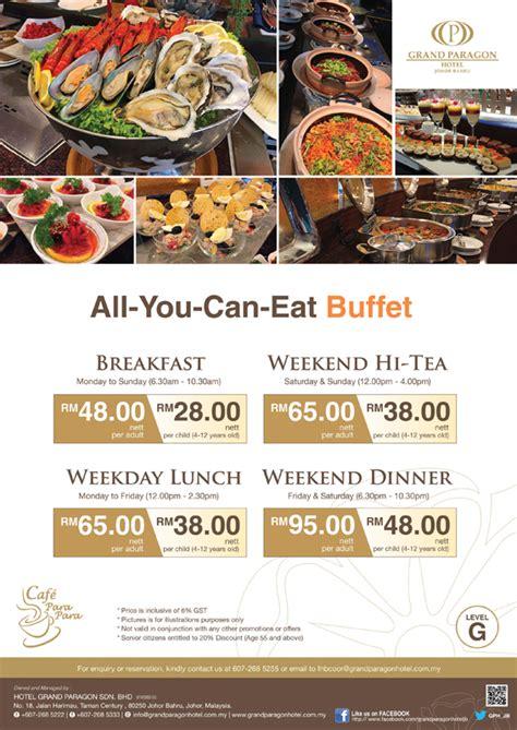 Promotion Hotel Johor Bahru Cafe Buffet Price