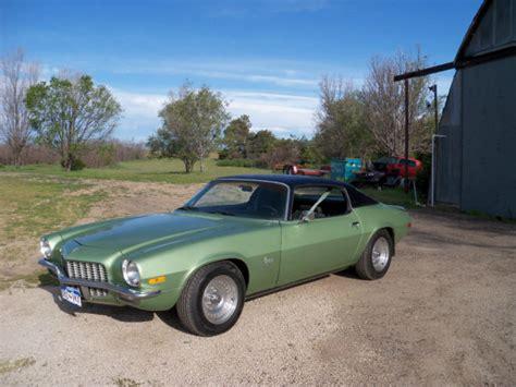 1970 camaro green seller of classic cars 1970 chevrolet camaro green mist