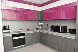 charming Bright Yellow Kitchen Accessories #4: kitchen-design-pink-and-grey.jpg