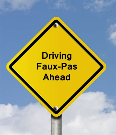 Driving Faux Pas   Nevada   A Dependable Insurance Agency
