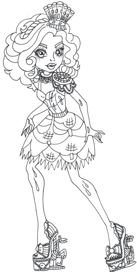monster high gooliope coloring pages free printable monster high coloring pages gooliope