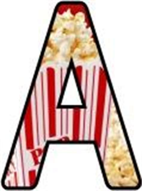 printable popcorn letters free teaching resources display lettering sets printable