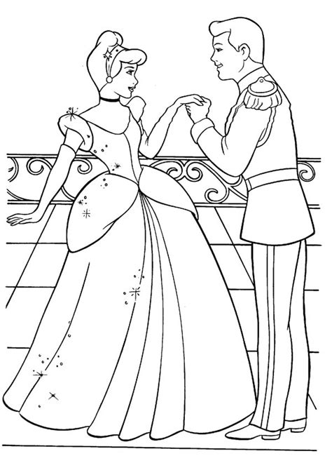 coloring pages of cinderella and prince charming prince charming coloring pages bestofcoloring com