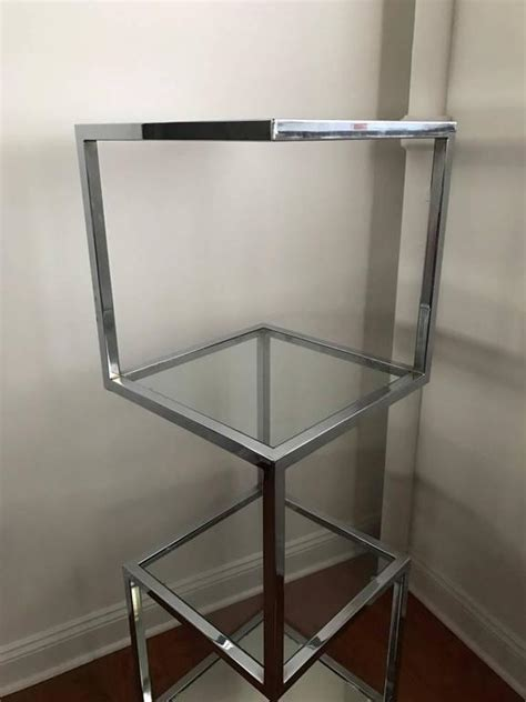 Etagere 9 Cases But by Mid Century Chrome Etagere Or Display For Sale At 1stdibs