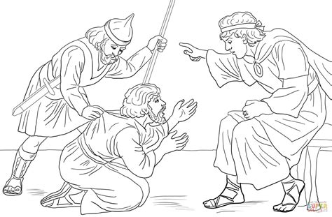 Coloring Page For The Unforgiving Servant | unforgiving servant parable coloring page free printable