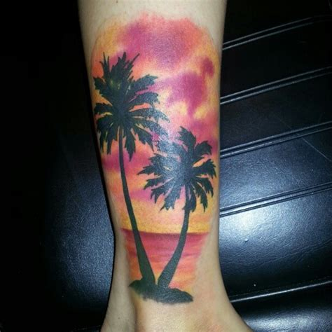 palm tree sunset tattoo designs 50 superb palm tree designs and meaning