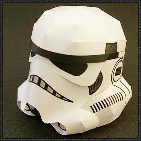 Papercraft Stormtrooper - helmets papercraft and papercraft on
