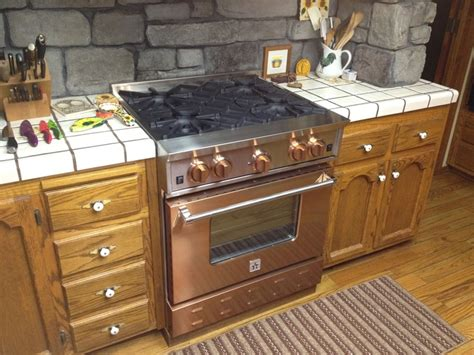 copper colored appliances bluestar copper 30 gas range available at www idlers net