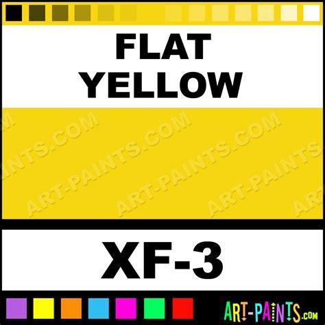 flat yellow color acrylic paints xf 3 flat yellow