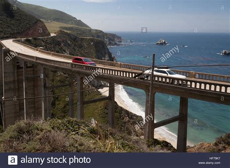 Pch Bridge - at bixby bridge on national highway 1 pacific coast highway pch stock photo royalty