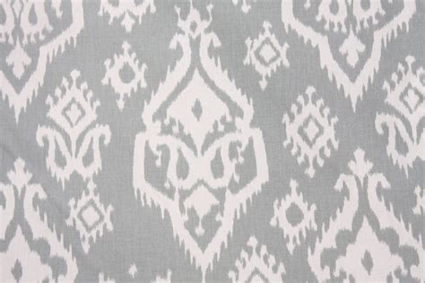 cool upholstery fabric premier prints raji printed cotton drapery fabric in cool grey