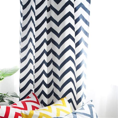 navy blue and white striped curtains modern cotton printing navy blue and white striped chevron