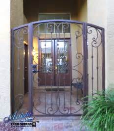 Iron Gate Front Door Fouet Wrought Iron Courtyard Entry Gate Traditional Front Doors Las Vegas By Artistic