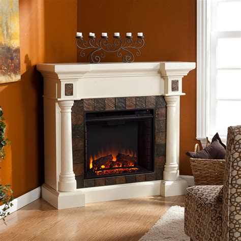 Large Corner Electric Fireplace by Weatherford Convertible Ivory Electric Fireplace 37 251