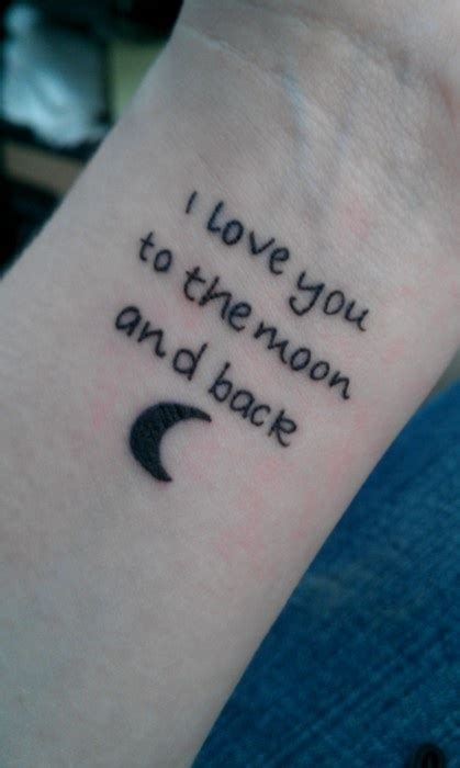 small love quotes for tattoos i you to the moon and back quote moon wrist