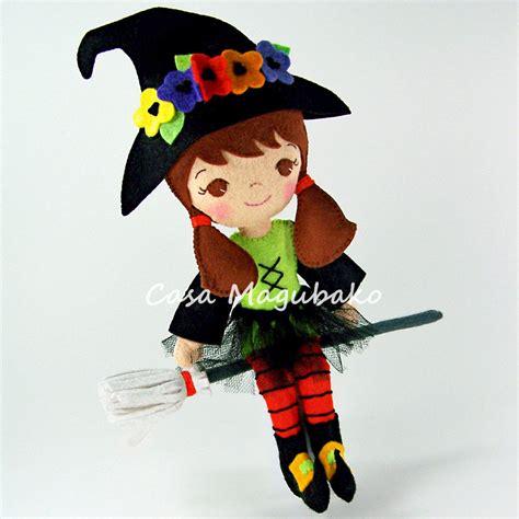 felt witch pattern felt witch doll sewing digital pattern pdf file tutorial