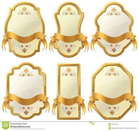 Etiketten Gold by Gold Framed Labels Stock Image Image 13411711