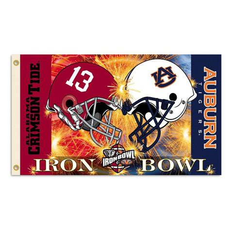 helmet design book iron bowl logos alabama vs auburn 3ft x 5ft team flag