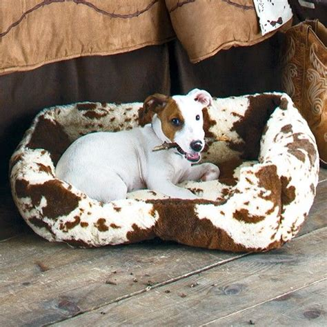 ultra plush outlaw dog ultra plush fleece cowprint dog bed dog beds plush and dogs