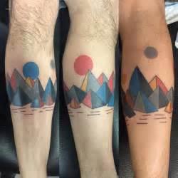 geometric tattoo friendship 35 geometric mountains tattoos