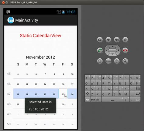 android layout finished event sle program android calendarview static calendarview