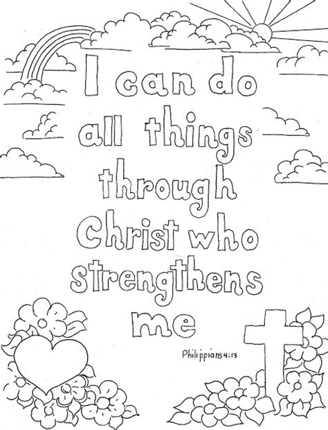Coloring Page For Philippians 4 13 coloring pages for by mr adron philippians 4 13