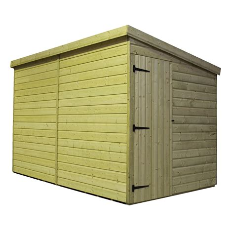 10 X 4 Shed 10 X 4 Windowless Pressure Treated Tongue And Groove Pent