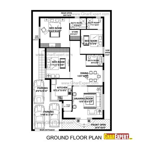 home design 15 60 15 60 plot design house floor plans