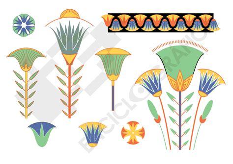 cenefas egipcias palmetas de papiro egipto