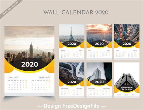 year wall calendar vector