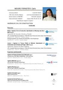 Curriculum Vitae En Francais by Moure Carla Cv Fr 20141116