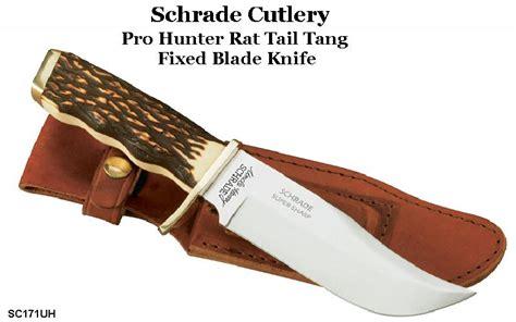 schrade buck knife schrade knives schrade sc171uh pro rat tang