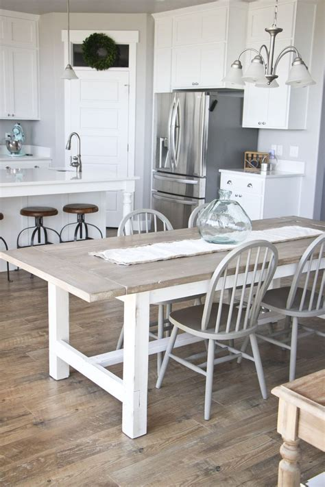 white bench for kitchen table best 25 white wood table ideas on pinterest distressed