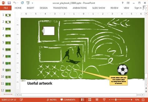 Animated Soccer Playbook Powerpoint Templates Powerpoint Powerpoint Football Playbook