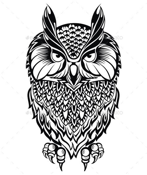 gambar tribal pattern owl graphicriver owl symbol 11542140