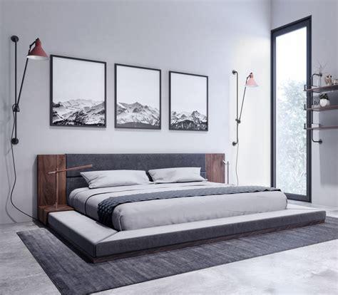 nova domus jagger modern dark grey walnut bed