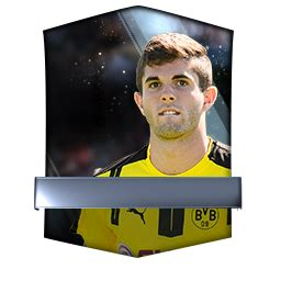 christian pulisic rating christian pulisic 96 fifa mobile 17 futhead