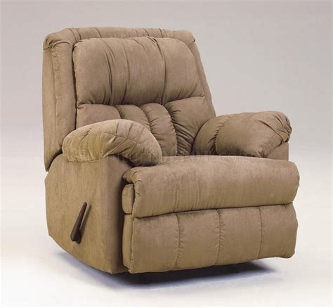 modern rocker recliners mocha plush microfiber contemporary rocker recliner