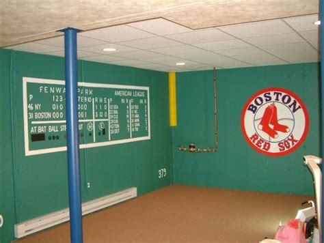 red sox bedroom fenway park scoreboard wall future basement ideas