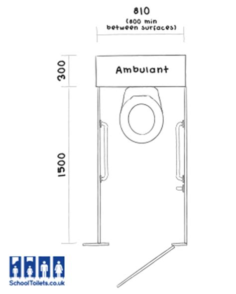 ambulant toilet layout uk dimensions of a disabled toilet home design plan