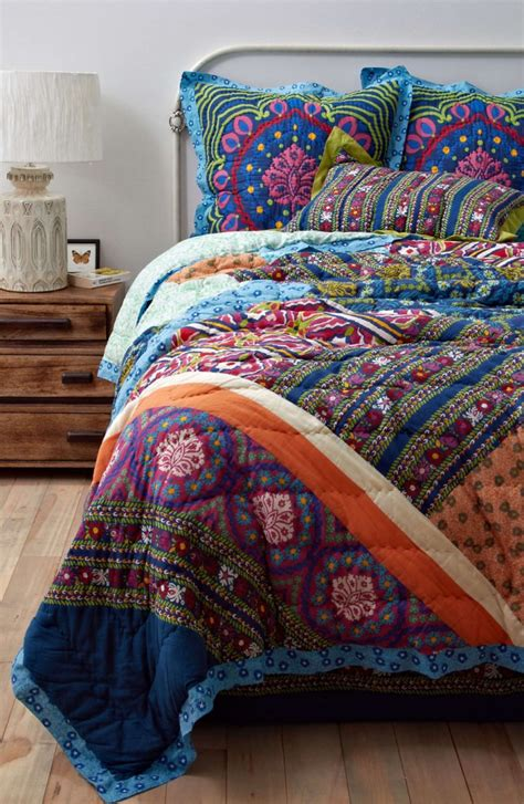 bohemian patchwork quilts bedroom ideas pictures
