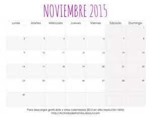 Calendario N Oviembre 2015 Me Encantaron Estos Calendarios 2015 Para Imprimir Tienen