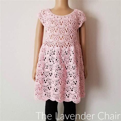 pattern yoke dress rounded yoke lacy shells dress crochet pattern the