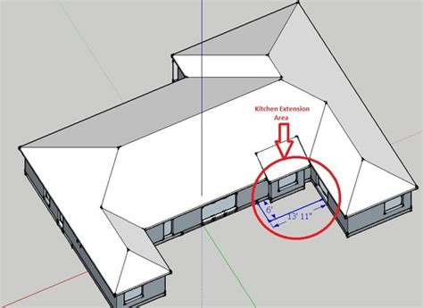 How To Add A Hip Roof Addition Need Help With Roof Design For An Extension On U Shaped